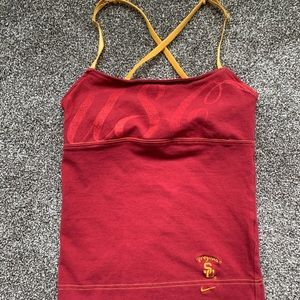 USC Nike tank with built-in bra